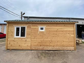 Деревянная мобильная баня 6х2,4 под ключ 4