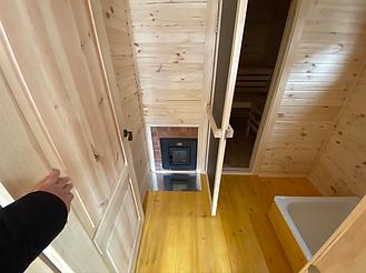Деревянная мобильная баня 6х2,4 под ключ 12