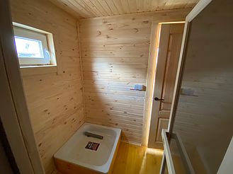 Деревянная мобильная баня 6х2,4 под ключ 10