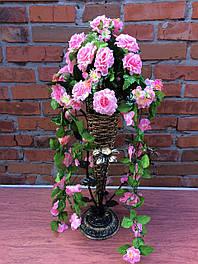 Роза подвеска в вазу  и на стену 80 см разноцветные