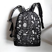 Спортивный рюкзак городской с принтом черно белый