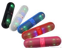 Мощная, стильная Портативная колонка с LED подсветкой Mini speaker BT-808 L Bluetooth.
