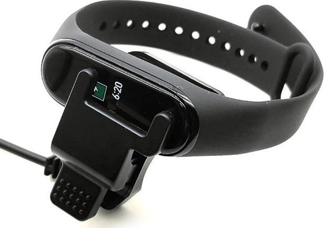 Кабель USB Прищепка Mi Band 4 (black)