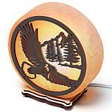 Соляной светильник круглый орел и горы, фото 3