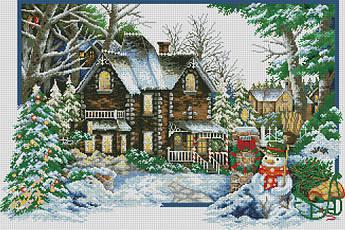 Алмазная мозаика Времена года. Зима DM-291 82х55см Полная зашивка. Набор алмазной вышивки