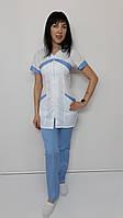 Женский медицинский костюм Корра 44 размер короткий рукав, фото 1