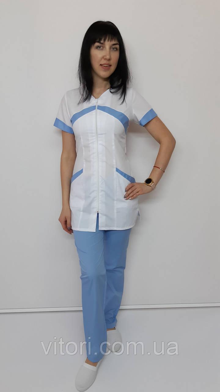 Женский медицинский костюм Корра 44 размер короткий рукав
