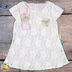"""Летнее платье+ повязка для малыша """"Розовое"""" Размеры: 6,9,12 месяцев (20354-3)"""