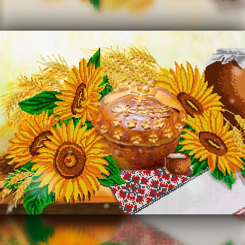Алмазная мозаика Украинский стол 30x40 TWD10029 The Wortex Diamonds Полная зашивка