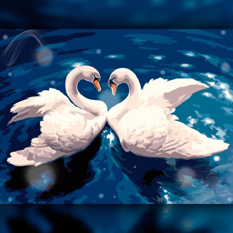 Алмазная мозаика Танец лебедей 30x40 TWD20020 The Wortex Diamonds Полная зашивка