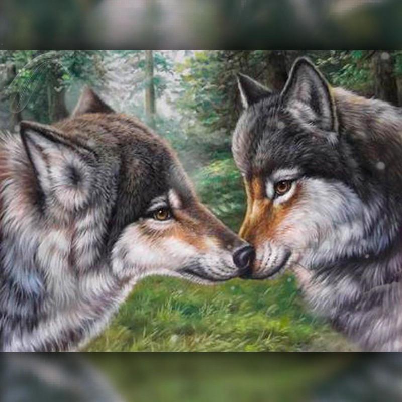 Алмазная мозаика Волчья верность 30x40 TWD20035 The Wortex Diamonds Полная зашивка