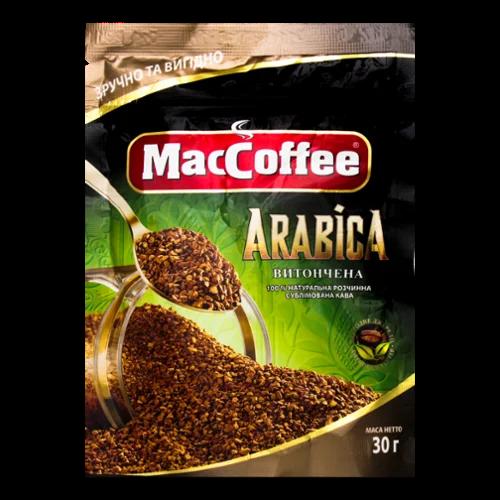 Растворимый кофе MacCoffee Арабика 30 грамм