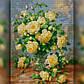 Алмазная мозаика Желтые Розы 30x40 TWD10014 The Wortex Diamonds Полная зашивка, фото 2