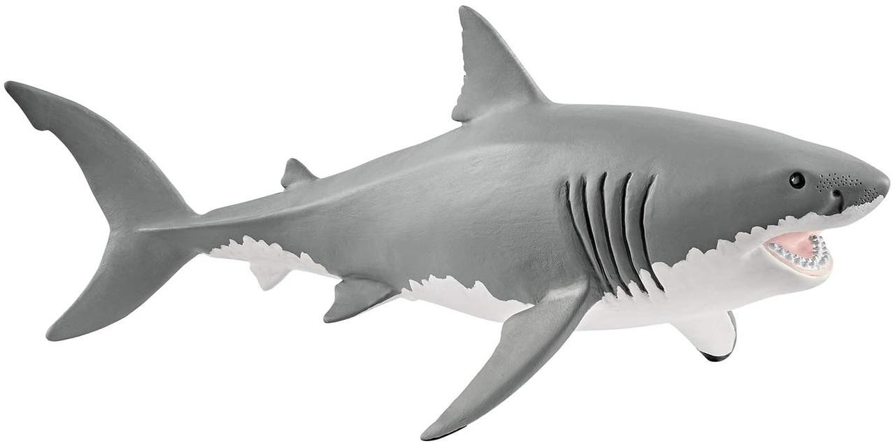 Фигурка белая акула Schleich Great White Shark Toy Figurine
