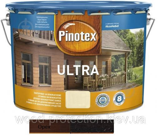 Краска для наружных работ Pinotex Ultra Lasur ореховое дерево 10л