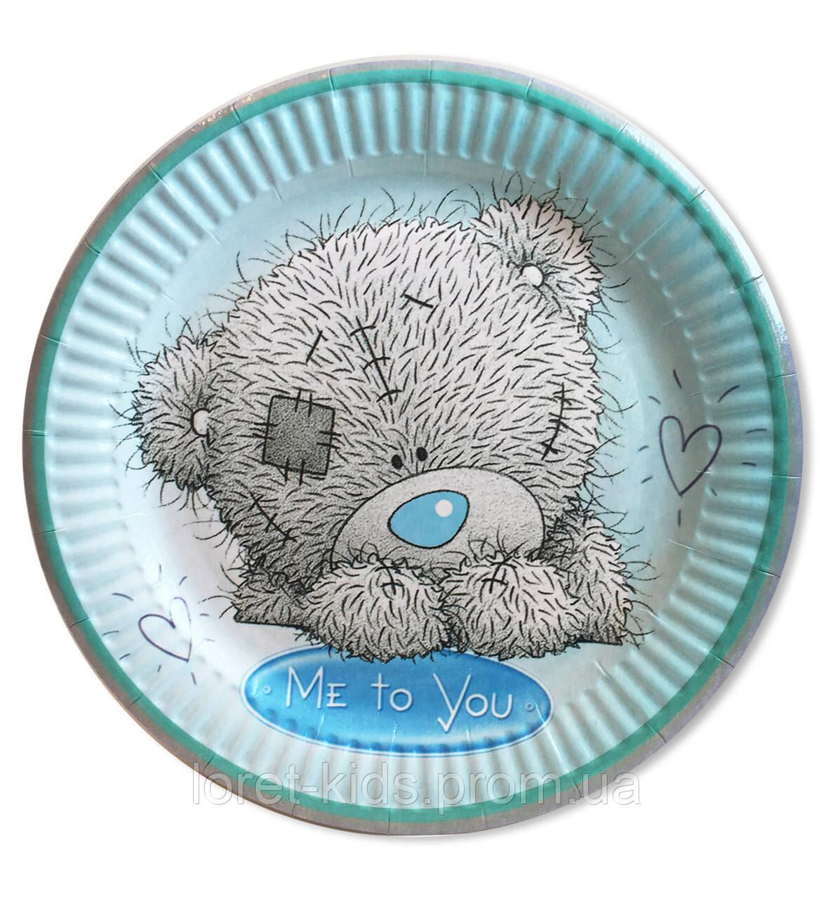 """Тарелки бумажные одноразовые детские """" Мишка Тедди """". 18 см.10 шт."""