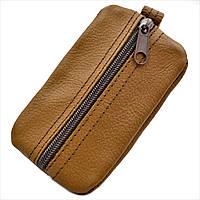 Ключница-кошелёк кожаная Weatro Рыжий klch-0007, КОД: 1714049