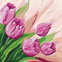"""Картина за номерами. """"Перські тюльпани"""" 30х30см арт. КНО2948"""