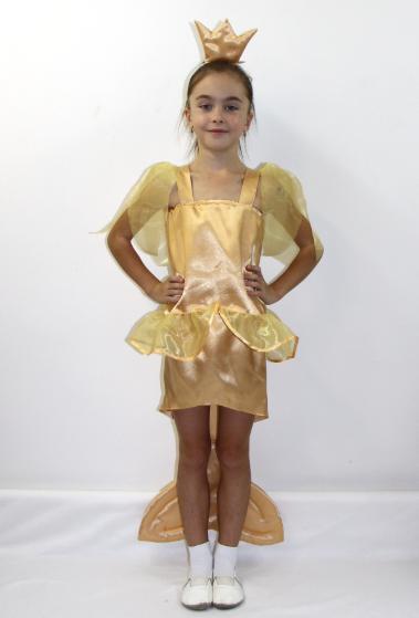 Детский карнавальный костюм Золотая Рыбка для девочек 5-6 лет