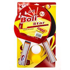 Ракетка для настільного тенісу Boli Star 2шт