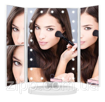 Дзеркало для макіяжу з підсвічуванням Led miror потрійне