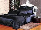 """Черное постельное белье атласное в размерах """"Готика"""", Полуторный размер, наволочки 50х70см или 70х70см, фото 2"""