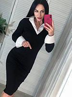 """Стильное женское платье с белым воротником """"Little Rock"""""""