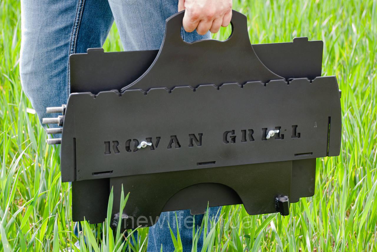 Мангал-чемодан, именной мангал, подарочный мангал, разборной мангал, переносной мангал