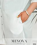 Стильная и лёгкая рубашка плюс сайз с отложным воротничком Minova р. 58-60,60-62, фото 3