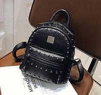 Качественный женский мини рюкзак Черный