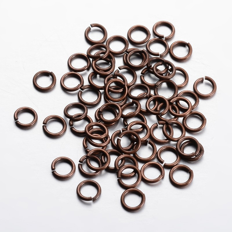 Металлическое кольцо соединительное разъемное один виток 7 мм медь для рукоделия