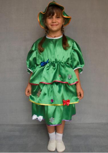 Детский карнавальный костюм Ёлочка для девочек 3-6 лет