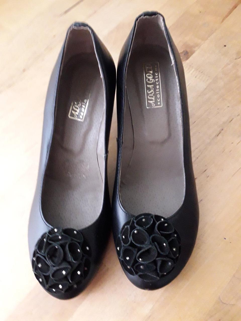 """Черные женские туфли с бантиком из натуральной кожи """"Кларисса"""""""