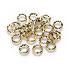 Кольцо закрытое круглое 10 мм жгут античное золото для рукоделия