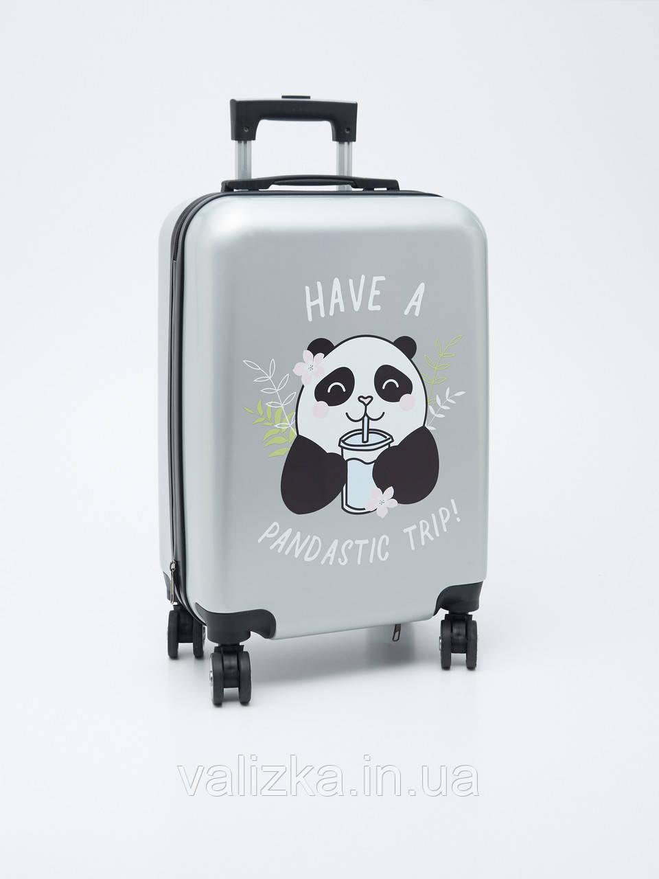Детский пластиковый чемодан для девочки с пандой