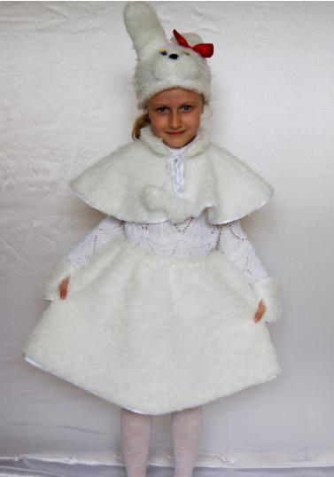 Детский карнавальный костюм Зайка для девочек от 3 до 6 лет