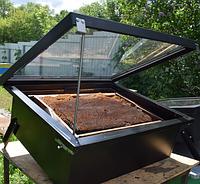 Солнечная Воскотопка на 2 рамки, арматура с нержавеющей стали AISI 430