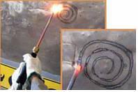 Угольный электрод для прогрева и усадки метала после рихтовки споттером омеднённый (1уп./5шт.)
