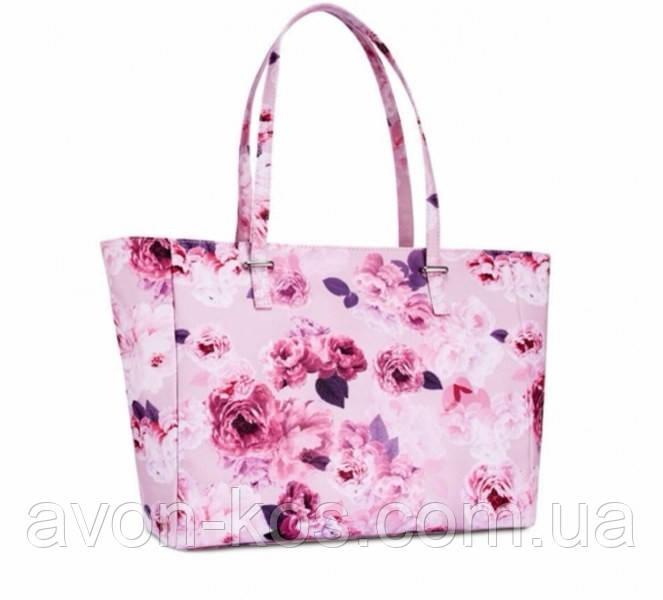 Женская розовая сумка  Флора Avon