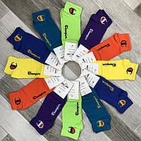 Носки мужские демисезонные х/б Happy Socks Champion, размер 41-45, короткие, цветное ассорти, 03649
