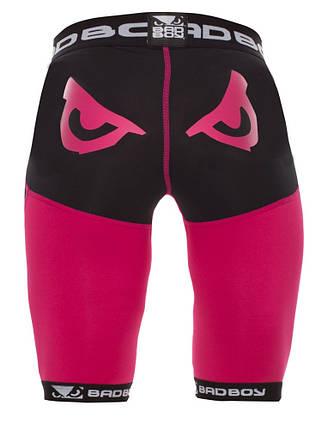 Компрессионные шорты женские Bad Boy Compression Shorts Black/Pink XS, фото 2