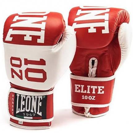 Боксерские перчатки Leone Elite Red 10 ун., фото 2