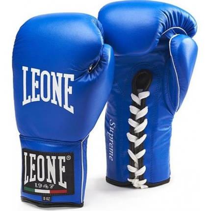 Боксерские перчатки Leone Supreme Blue 8 ун., фото 2