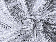 Сетка линии пайетки, серебристый