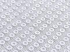 Сетка линии пайетки, белый