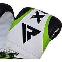 Снарядные перчатки, битки RDX White Green, фото 3