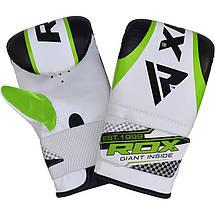 Снарядные перчатки, битки RDX White Green, фото 2
