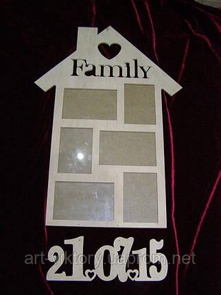 Фоторамка Family с датой, декор (40,5 х 69 см), фото 2