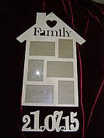 Фоторамка Family с датой, декор (40,5 х 69 см)