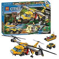Конструктор Вертолёт для доставки грузов в джунгли 1298 деталей